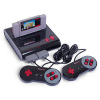 ThinkGeek :: Retro Duo NES/SNES Game System