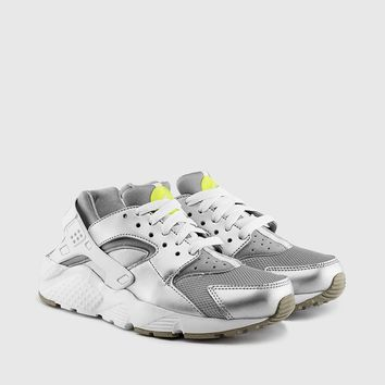 Nike - Grade School Huarache Run (Metallic Silver | Volt | White) - Nike - Brands
