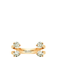 Pink Gold Four Diamond Dot Ring