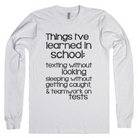 Things I've learned-Unisex White T-Shirt