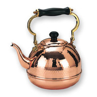 Hammered Decor Copper Tea Kettle - CopperGifts.com