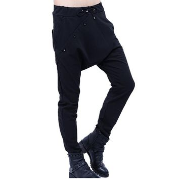 Spring and summer male cotton casual pants feet hip hop dance Haren slim pant