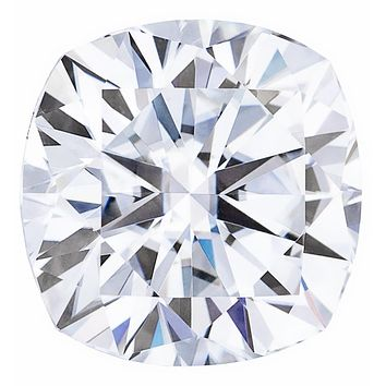 H&A Cushion Forever One Charles & Colvard Loose Moissanite Stone