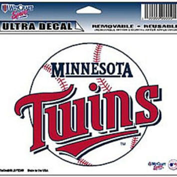 "Minnesota Twins Removable 5""x6"" Car Decal"