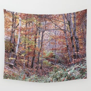 Autumn colors II. Dream forest retro Wall Tapestry by Guido Montañés