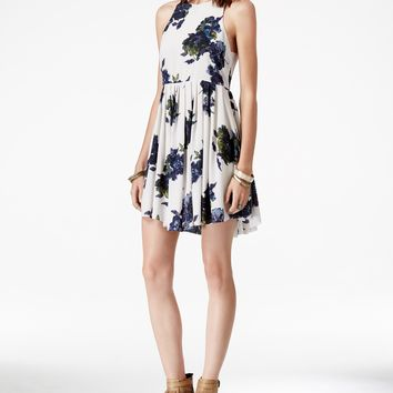 Free People Flutterby Printed Mini Dress