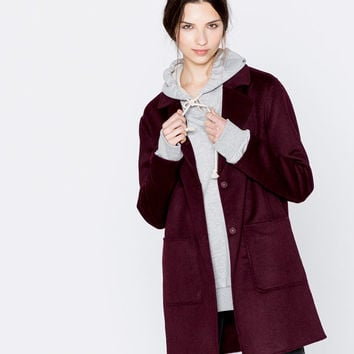 Handmade lapel coat - Coats and jackets - Clothing - Woman - PULL&BEAR Sweden