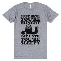 Sleep Till Your Hungry-Unisex Athletic Grey T-Shirt
