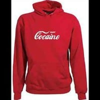 Enjoy Cocaine Drug Offensive Red Hoodie NEW