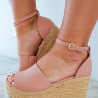 Leading The Way Wedges: Mauve