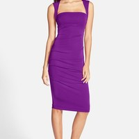 Women's Nicole Miller Ruched Jersey Pencil Dress,