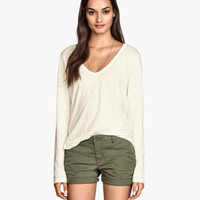 Linen Jersey Top - from H&M