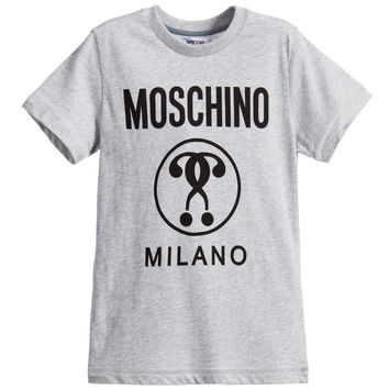 Moschino Boys Grey Logo T-shirt