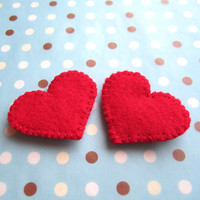 Red Heart Shoe Clips - Made To Order