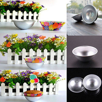 New Ball Stainless Steel Sphere Bath Bomb Cake Pan Bake Mold Pastry Mould HUCA