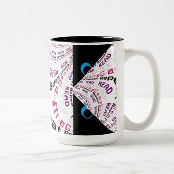 Angry Cartoon Eyes Rad Chic Geek Gamer Code Mug
