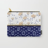 Stitched poppies Carry-All Pouch by Jennifer Rizzo Design Company