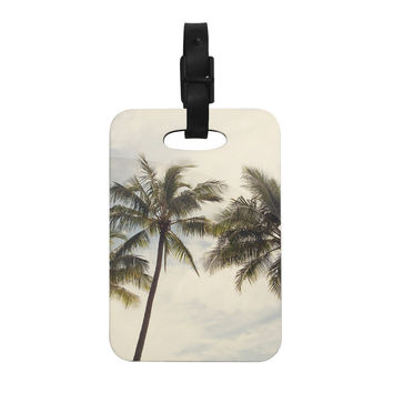 "Catherine McDonald ""Boho Palms"" Coastal Trees Decorative Luggage Tag"