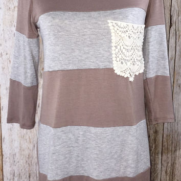 Simply Striped Crochet Pocket Tunic