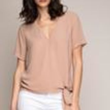 Chica Wrap Top- Champagne