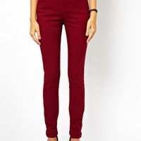 ASOS High Waist Trousers in Cotton Twill