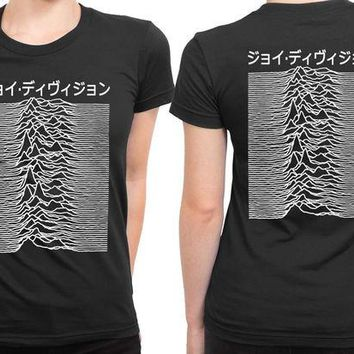 DCCKL83 Joy Division Unknown Pleasure Mandarin Words 2 Sided Womens T Shirt