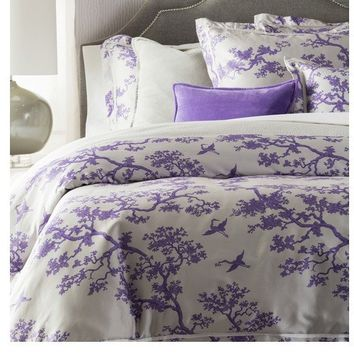 Violet Purple Branch Duvet Bedding Set