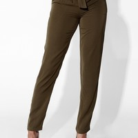Army Green Brielle Tulip Trousers