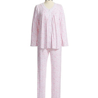 Miss Elaine Two Piece Patterned Pajama Set
