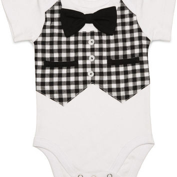 Gingham Style Baby Infant Onesuit