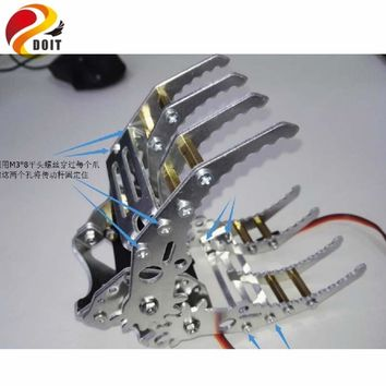 DOIT metal aluminum robotic gripper claw paw hand finger for robot mechanical clamp mount kit manipulator arm diy rc toy