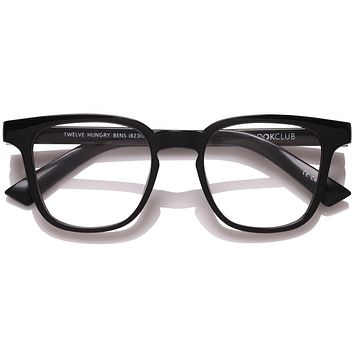 The Book Club - Twelve Hungry Bens 49mm Marker Black  / Screen Blue Light Clear +3.00 Lenses