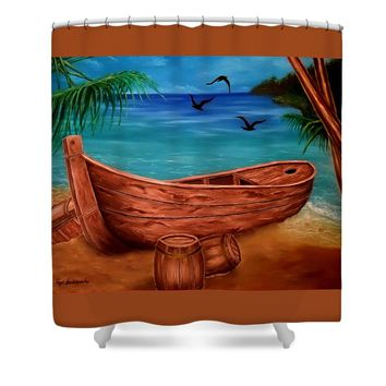 Pirates' Story Shower Curtain