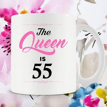 55th Birthday Gifts For Women 55th Bday Gift For Birthday Mug For Her Bday Present B Day Gift B-Day 55 Years Old Ceramic Mug - BG261