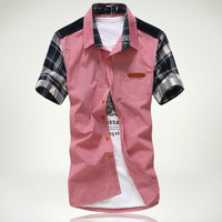 Checkered Short Sleeve Casual Shirt