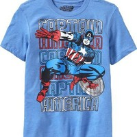 Old Navy Boys Marvel Comics Captain America Tees