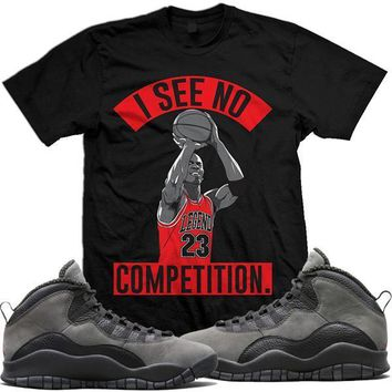 Jordan Retro 10 Shadow Sneaker Tees Shirt - NO COMP
