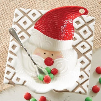 Santa Dip Bowl & Scoop Set by Mud Pie
