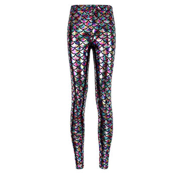 Summer style women's Scale leggings
