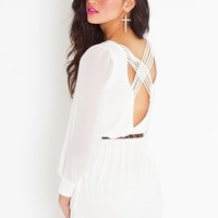 Lily Lattice Dress - Ivory