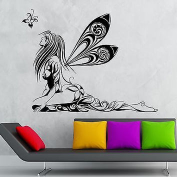 Wall Sticker Vinyl Decal Fairy Beautiful Girl Modern Room Decor Nursery (ig2218)