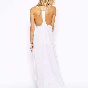 Asos White Long Maxi Dress