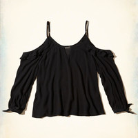 Girls Ruffle Cold Shoulder Top | Girls Tops | HollisterCo.com