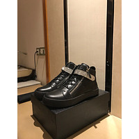 GZ Giuseppe Zanotti Men's Leather Fashion High Top Sneakers Shoes