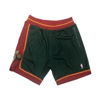 Seattle SuperSonics 1995-1996 NBA Authentic Shorts Customized w/ Pockets