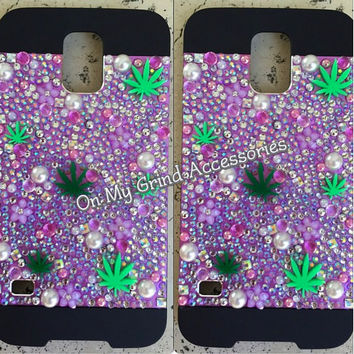 Phone Case -- Galaxy S5 -- Purple Pot Princess Confetti