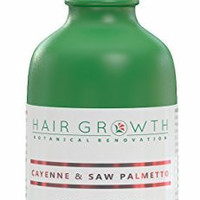 Hair Growth Botanical Renovation Anti-hair Loss Scalp Treatment Hair Oil, 4 oz/118 ml, Cayenne & Saw Palmetto