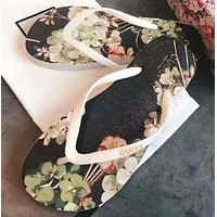 Gucci Casual Floral Print Sandal Slipper Shoes