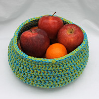 Cotton Crochet Basket - Organizing Tool - Fruit Bowl - Crochet Bowl - Bowl - Cotton Bowl