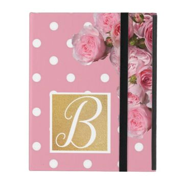 Pink Polkadot and Peonies iPad Case | Zazzle.co.uk